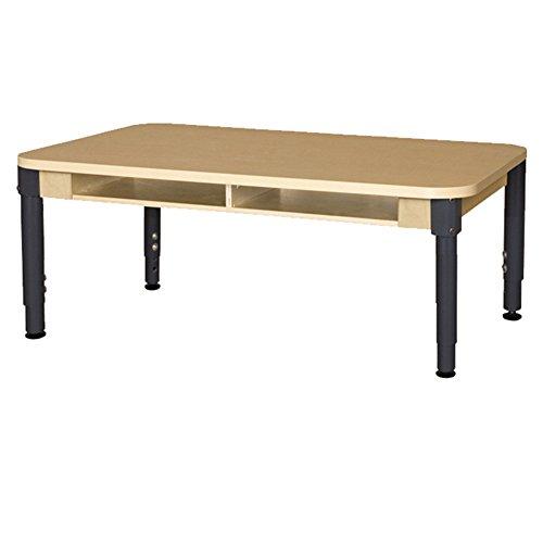Wood Designs HPL1848DSKA1217  Two Seater High Pressure Laminate Desk with Adjustable Legs 12-17'' by Wood Designs