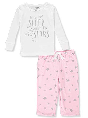 Carter's Baby Girls' 2-Piece Pajamas - White/Multi, 18 Months