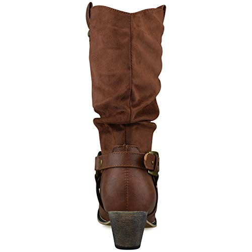 Premier Tan Toe Tabs Western Pointed Cowboy On Knee Boots Pull Women's Standard Premier High HOqrHa