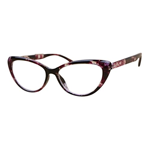 Inlefen Lady Reading Glasses Cat's Eye Full Frame Strength: +1.00 To +4.00