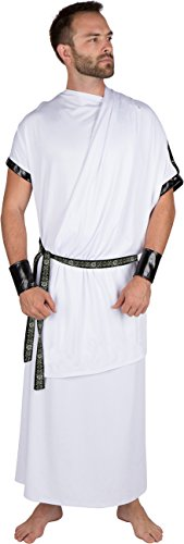 Capital Costumes Men's Grecian Toga Costume by Allures & Illusions, -