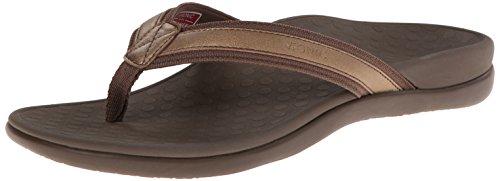 Vionic Womens Tide II Sandal Bronze Metallic Size 10