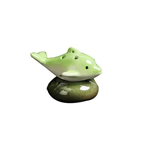 ZHONGYUE Beginners Begin To Get Started With Ocarina 6 Holes, Cartoon Dolphin Ocarina, Musical Instruments, Beginners, Six Holes, Ocarina, Small Dolphin (blue), 11 Colors Available Ocarina,