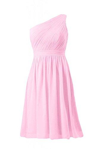 Daisyformals Courte Robe De Demoiselle D'honneur Cru Une Robe De Soirée Épaule (bm10822s) # 20 Glace Rose