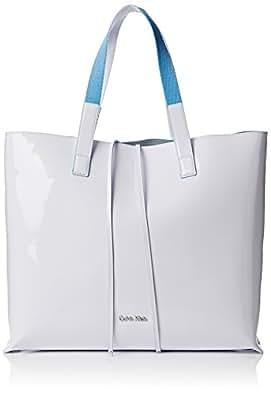 CALVIN KLEIN ACCESSORI Flow Large Shopper, Bolso para Mujer, Blanco, OS