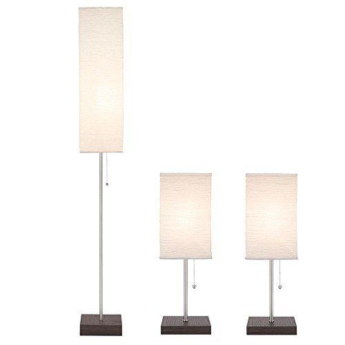 paper shade lamp set