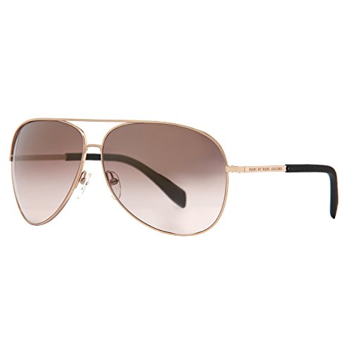 Marc by Marc Jacobs Unisex - Adult MMJ484S Aviator Sunglasses, Gold & Brown Mirror Gold Shade, 63 - Marc Aviator By Jacobs Marc