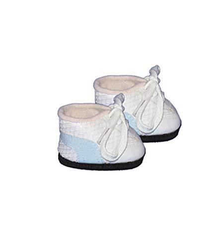 (White Tennis Shoes w/Blue Stripe clothes fits most 12