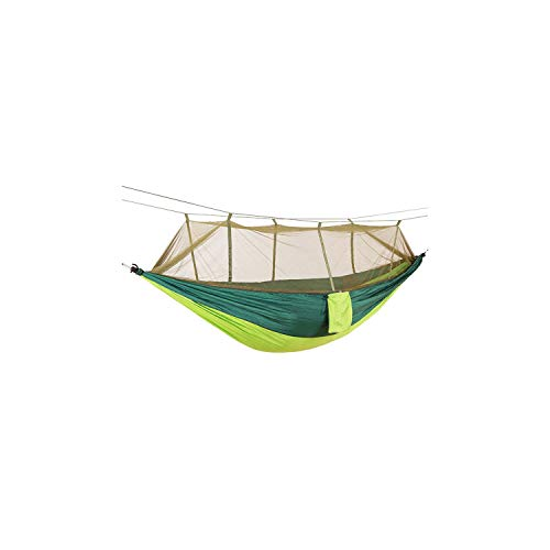 rtable Outdoor Camping Hammock with Mosquito Net High Strength Parachute Fabric Hanging Bed Hunting Sleeping Swing,Fruite Green A ()