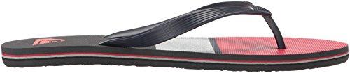 Quiksilver Men's Molokai Tägliche blockierte Sandale Blau / Grau / Rot