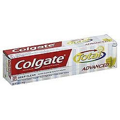 Colgate Total Advanced Clean Plus Whitening Anticavity Fluoride and Antigingivitis Toothpaste Paste 4 oz (pack of 3) ()