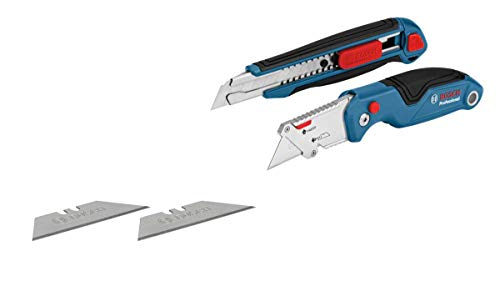 Bosch Professional 1600A016BM 2-Part Knife Set (with Folding Knife and Cutter, in Blister Packaging)