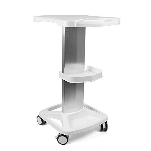 TFCFL Salon Trolley Aluminum Alloy Trolley Stand Assembled Salon Cart Hairdresser Trolley for Beauty Hairdresser Salon (White)