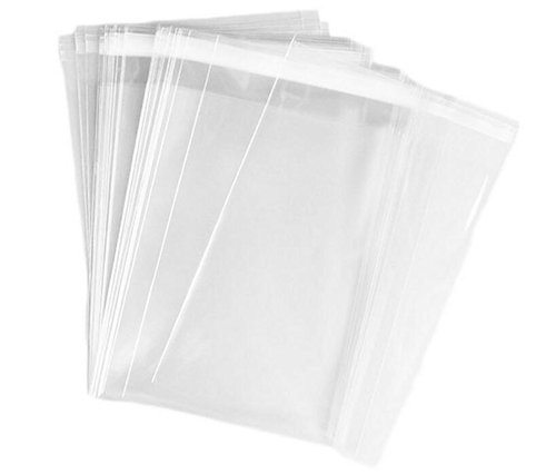 ASTRQLE 100PCS 4.5x5.5 inch Clear Automatic Sealing Flat Cello/Cellophane Bag Packaging Treat Bags Favor Bags with Self Seal Lip Adhesive Closure for Snacks Bakery Cookies Candies