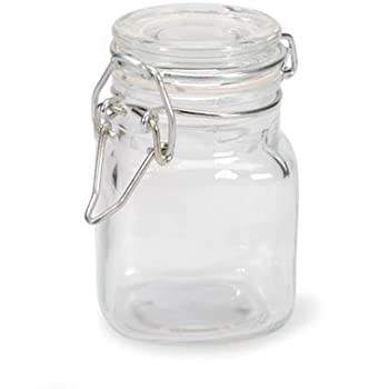Amazon Com Small Glass Jars With Locking Cannister Style