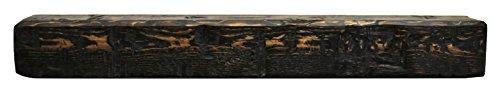 wood beam fireplace mantel - 6