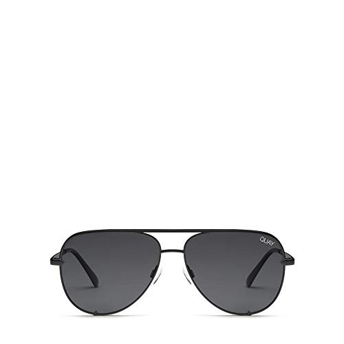 Quay Australia HIGH KEY MINI Men's and Women's Sunglasses Aviator Sunnies - Black/Fade