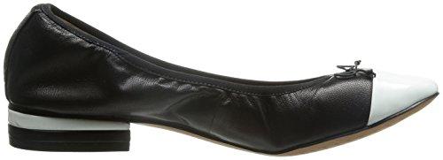 Clarks Womens Shoes Ditsy Dress Black/White Leather Black/White Apf5lvl4