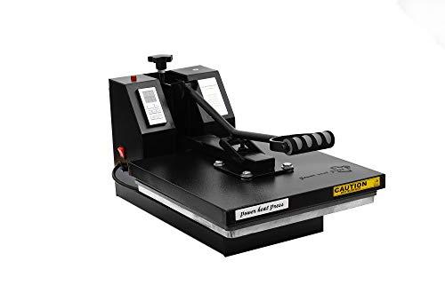 PowerPress Industrial-Quality Digital 15-by-15-Inch Sublimation T-Shirt Heat Press, Black
