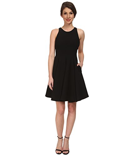 ABS Allen Schwartz Women's Cocktail Dress w/ Lace Back Black Dress 10