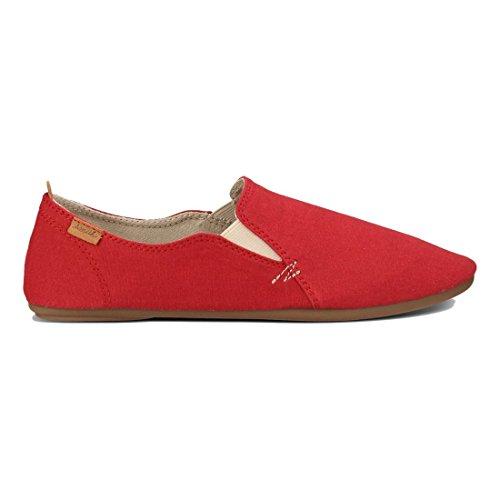 Sanuk Womens Isabel Flat Red