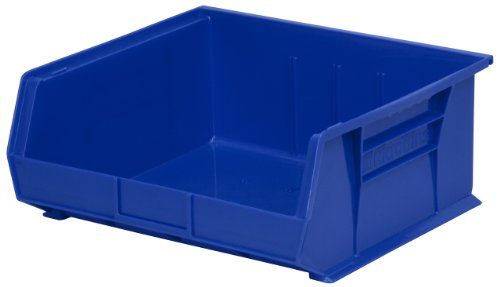 Akro-Mils 30235 Plastic Storage Stacking Hanging Akro Bin, 11-Inch by 11-Inch by 5-Inch, Blue, Case of 6 by Akro-Mils