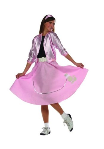 50s Poodle Skirt Teen Costumes (Poodle Skirt (Pink;Teen))