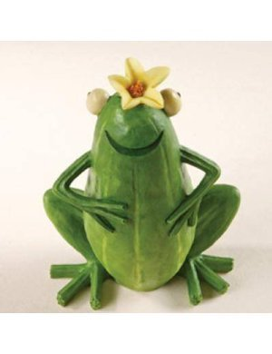 Homegrown Enesco Fruit (Home Grown from Enesco Zucchini Frog Figurine 4 IN)