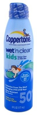 Coppertone Continuous Spf50 Spray Kids Wet N Clear 6ounce(3 Pk) by Coppertone