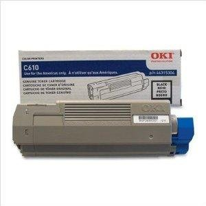 Oki C610 Series Black Toner, 8000 Yield - Genuine Orginal OEM toner