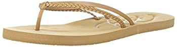 Roxy Women's Cabo Sandals Flip-flop, Tan, 7 M Us 0