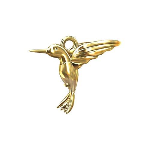 Breloque colibri 13 mm en Argent 925 doré x1 Inconnu
