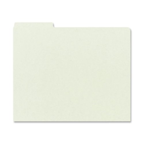 Wholesale CASE of 5 - Smead 1/3 Cut Pressboard Self Tab Guides-Pressboard File Guides,1/3 Tab Cut, Lgl,50/BX,Gray Green