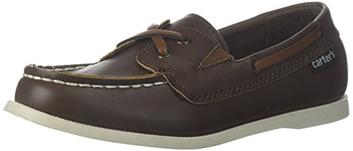 Carter's Boys' Bauk Boat Shoe, Brown, 10 M US Toddler by Carter's