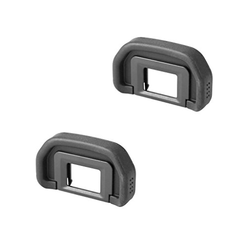 SeecurIT Eyecup (2 pack) for Canon EB Replacement Viewfinder Eyepiece for Canon EOS 5D Mark II 1000D 60D 50D 40D 30D 20D 10D 6D