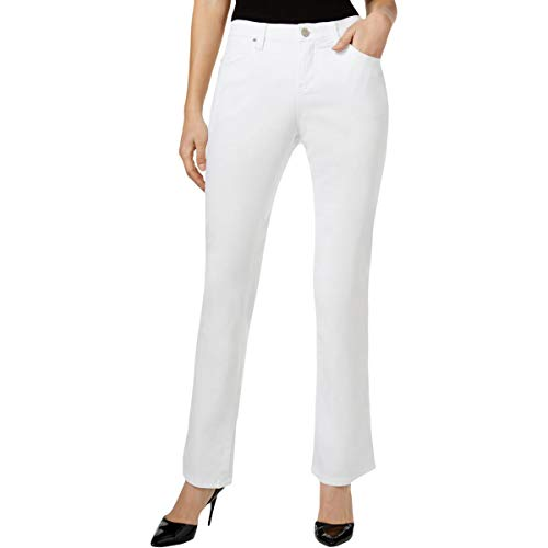 Lee Platinum Label Womens Petites Nellie Barely Mid Rise Bootcut Jeans White 14P ()