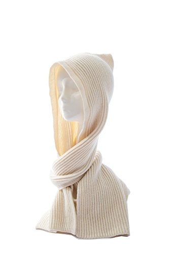 knitted scarf with hood - 8