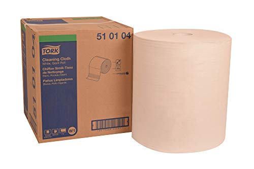 "Tork 510104 Cleaning Cloth, Giant Roll, 1-Ply, 16.9"" Width x 1250"