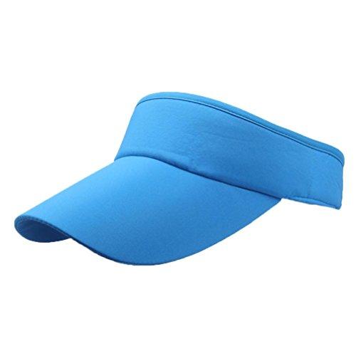 - Kimloog Sports Visor Hat, Men Women Classic Open Top Adjustable Headband Baseball Caps (F)
