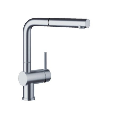 (Blanco 441431 1.8 GPM Linus Pullout with Dual Spray, Satin)