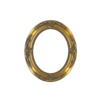 Amazon.com - Rabbetworks Ornate Gold Oval Picture Frame 8x10 -