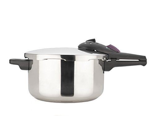 Fagor- Splendid 4 Quart 15-PSI Pressure Cooker and Canner, Polished Stainless Steel – 918060616
