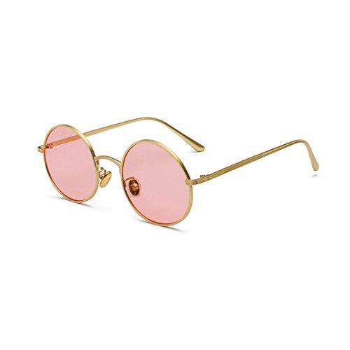 de de Retros Gafas Marco la del HUACANG Sol bisagra Gafas Primavera Redondas Sol Gafas Sol Las metálico Sol Vendimia UV400 de de la Gafas de Lennon Fashion Pink Gold Unisex la polarizadas de de de Hippie 6Twq17z6