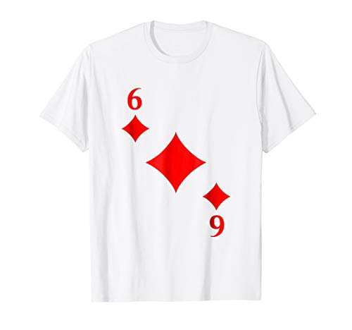 Six of Diamonds Costume T-Shirt Halloween Deck of Cards -
