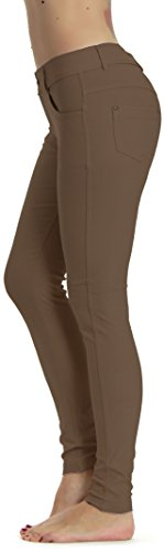 Prolific Health Women's Jean Look Jeggings Tights Yoga Many Colors Spandex Leggings Pants S-XXL (X-Large, Camel)