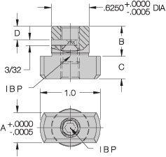 CL-8125-SLFK Carr Lane Manufacturing Sure-Lock Fixture Key: Table Slot Size 13/16