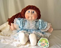 Vintage 1985 Cabbage Patch Kid Collectible Handcrafted Porcelain Doll - Cori Lynne