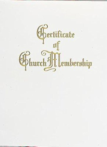 Traditional Steel-Engraved Church Membership Certificate (Pkg of (Membership Certificate)