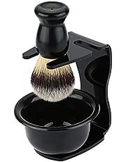 3'ü 1 Arada Tıraş Fırçası Seti Tıraş Çerçevesi Altlığı + Tıraş Sabunu Kasesi + Tıraş Kasesi Modern Tasarım Kıl Saç Tıraş Fırçası Akrilik Malzemeler Tıraş Tezleme Aracı MAYIS