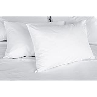 East Coast Bedding Duck Feather & Down Fill Bed Pillows - Set of 2 – Firm, Medium Support, Best for Back & Side Sleeping – 100% Cotton Shell (Standard)